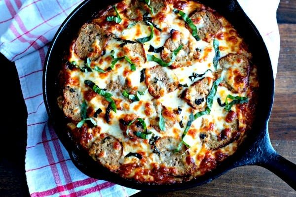 Рецепт піцци в сковорідці з духовки